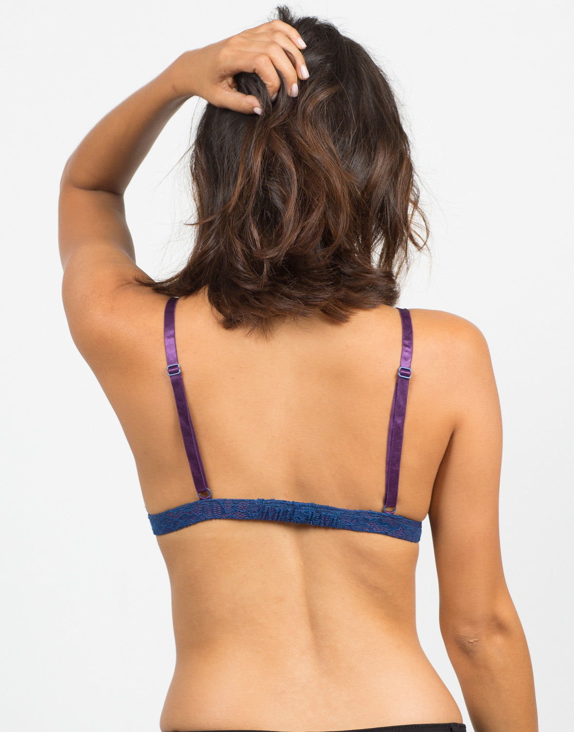 Back View of Adjustable Lacey Bralette