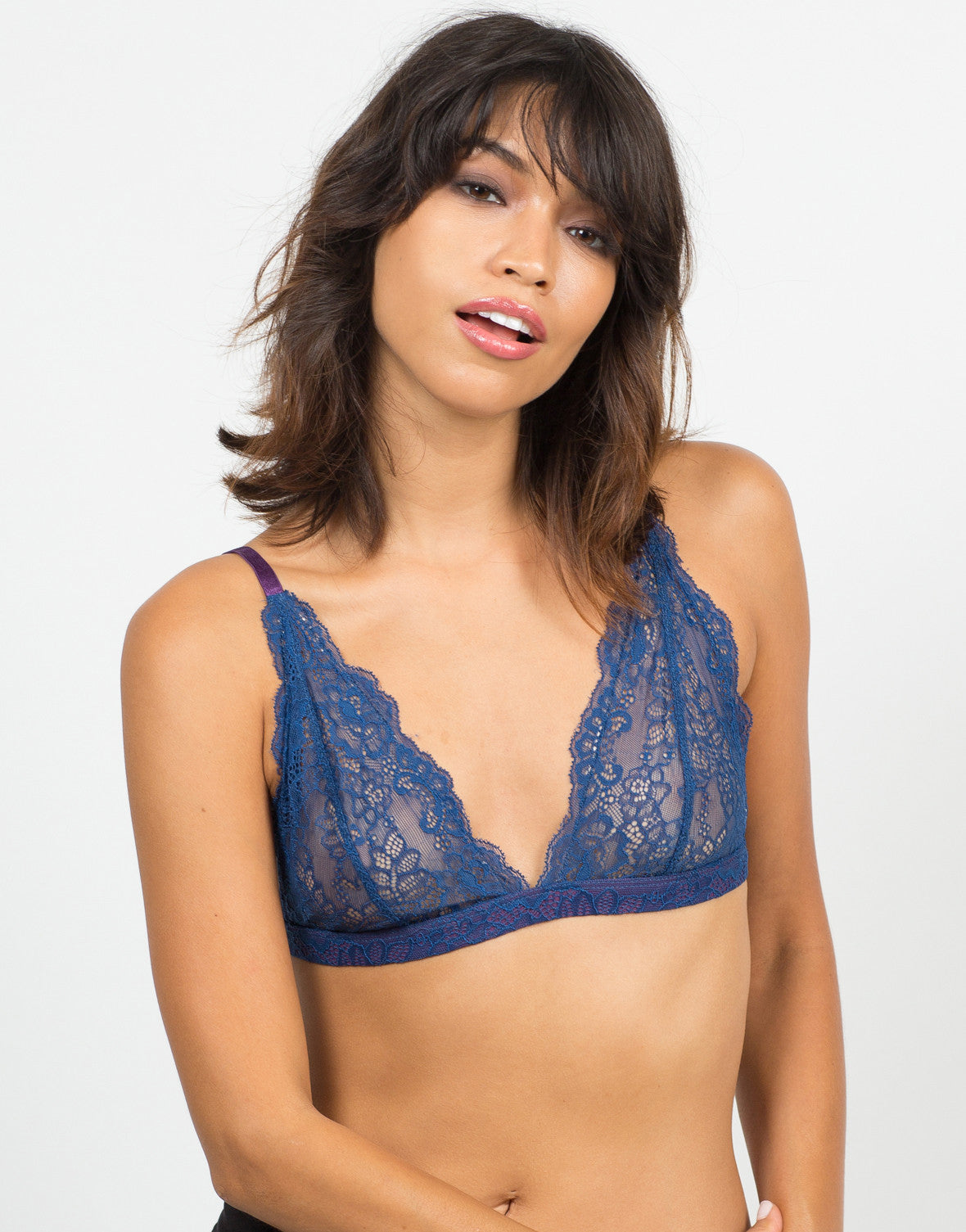 Front View of Adjustable Lacey Bralette