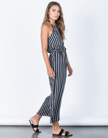 Adriana Striped Jumpsuit