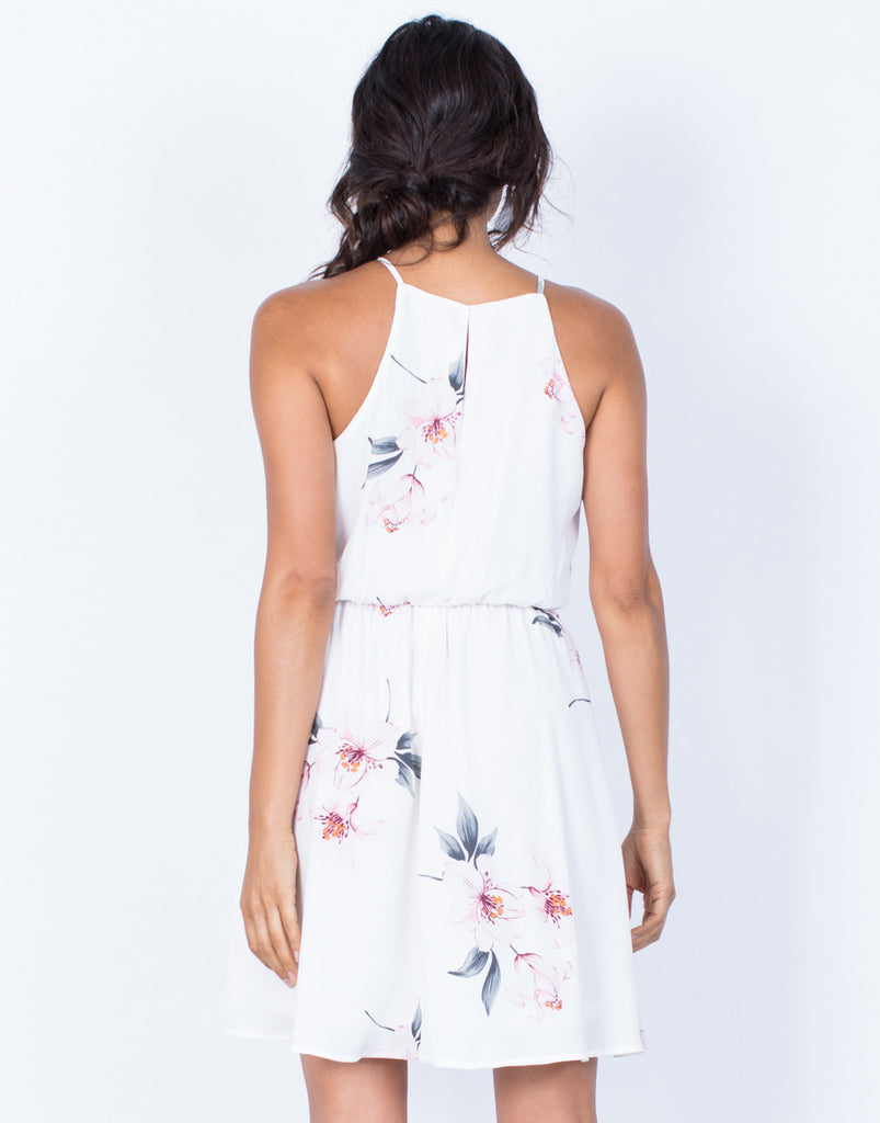 Back View of Alexandria Floral Dress