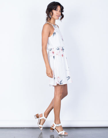 Side View of Alexandria Floral Dress