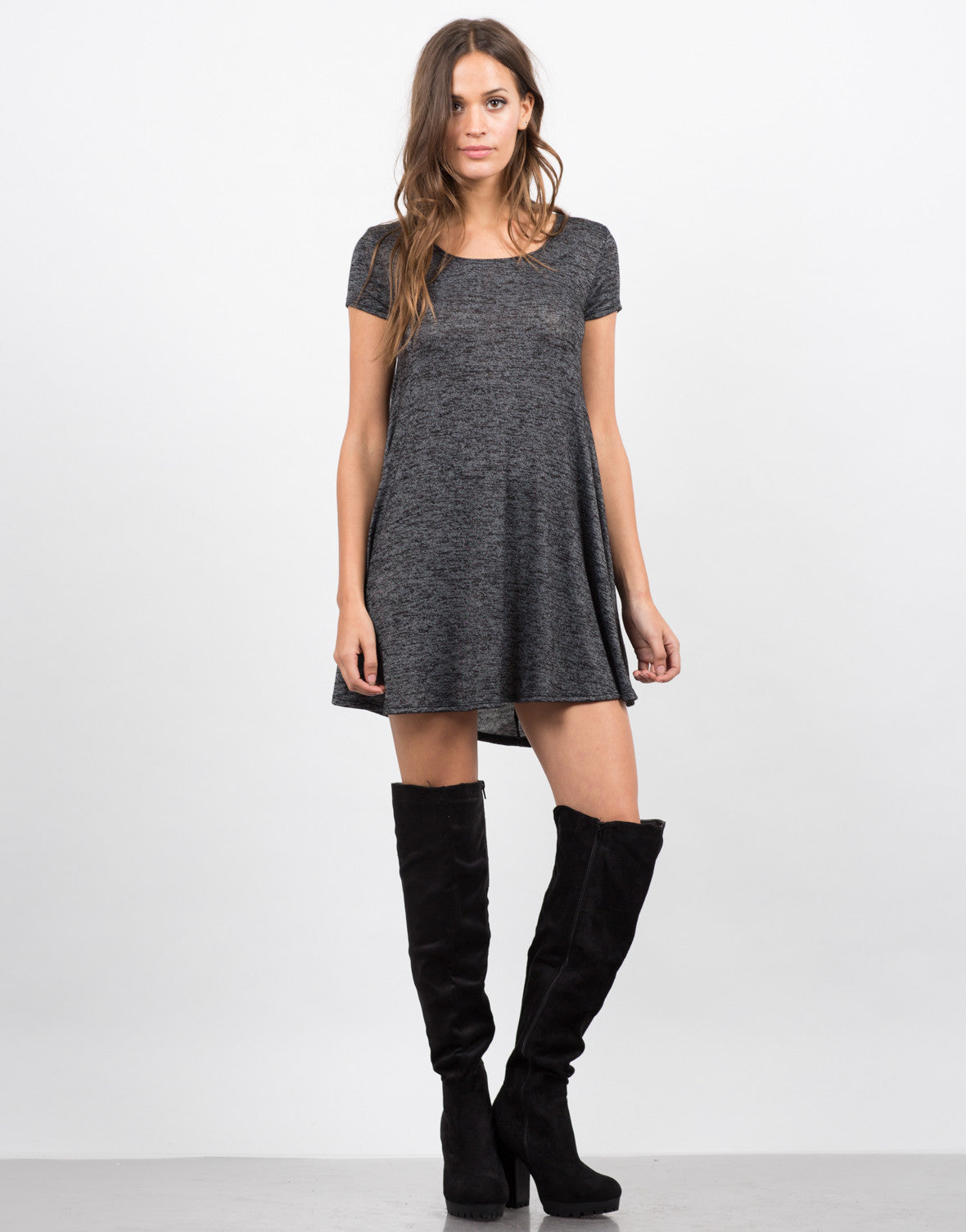 Front View of A-Line Tunic Tee