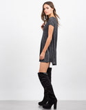 Side View of A-Line Tunic Tee