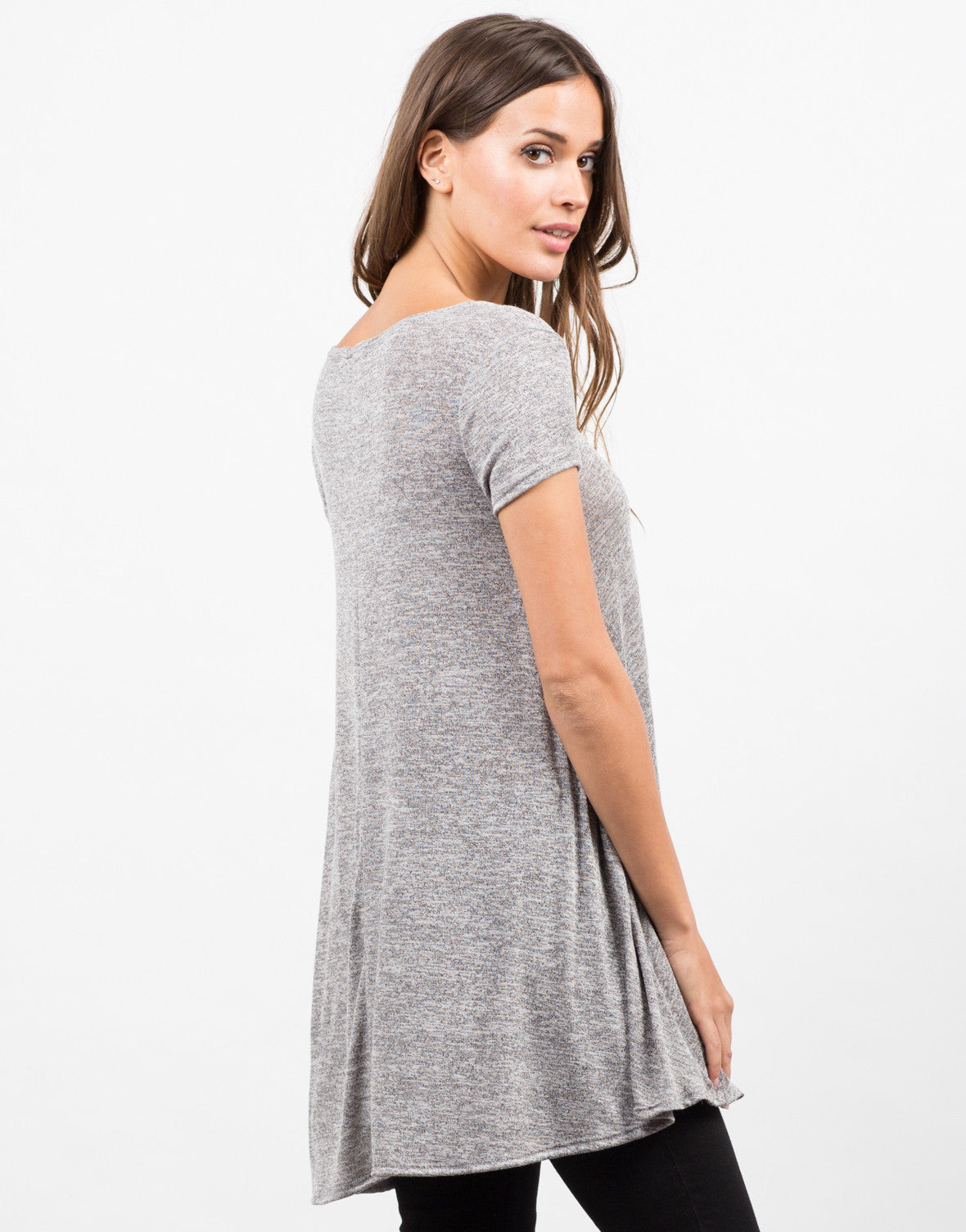 Back View of A-Line Tunic Tee