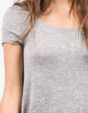Detail of A-Line Tunic Tee