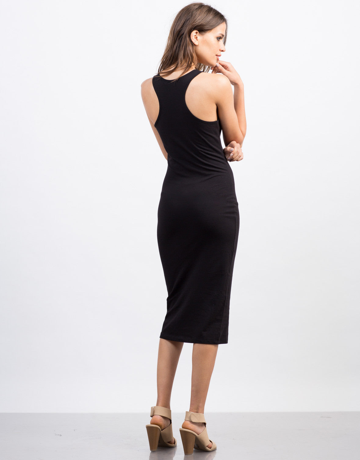 Back View of All Day Midi Dress