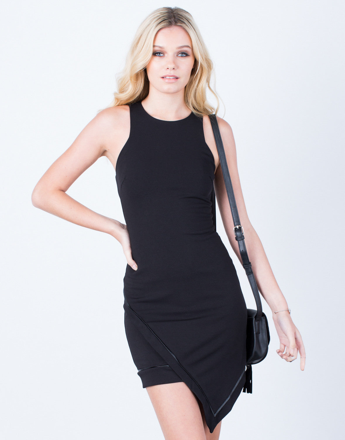 Front View of All Eyes on You Bodycon Dress