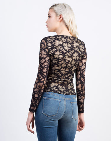 Back View of All Laced Up Blouse