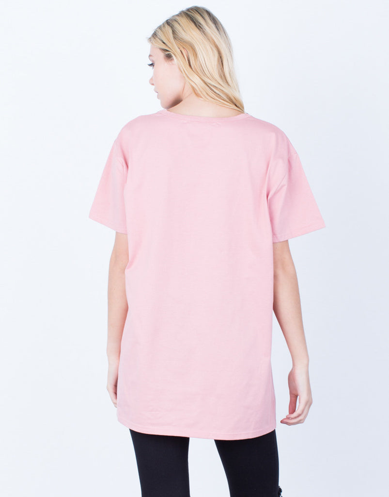 All Lined Up Basic Tee Tops -2020AVE