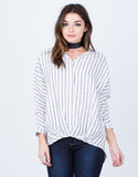 Front View of All Lined Up Blouse