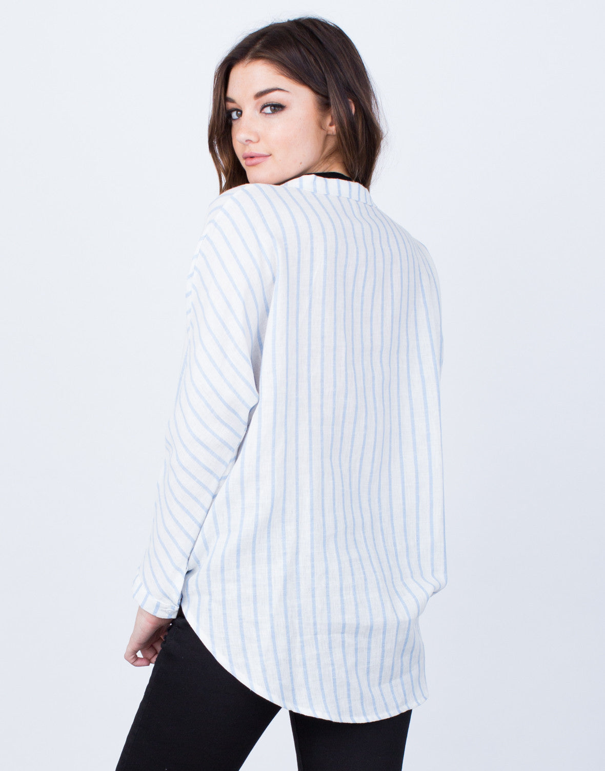 Back View of All Lined Up Blouse