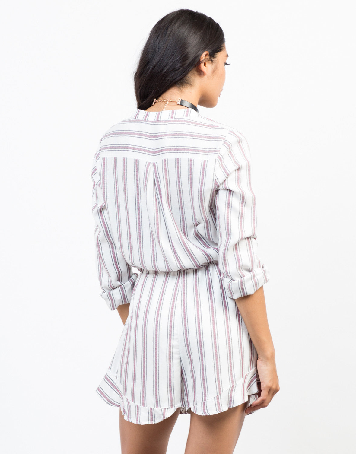 Back View of All Lined Up Romper