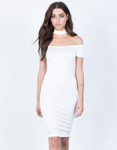 Front View of All Night Choker Dress