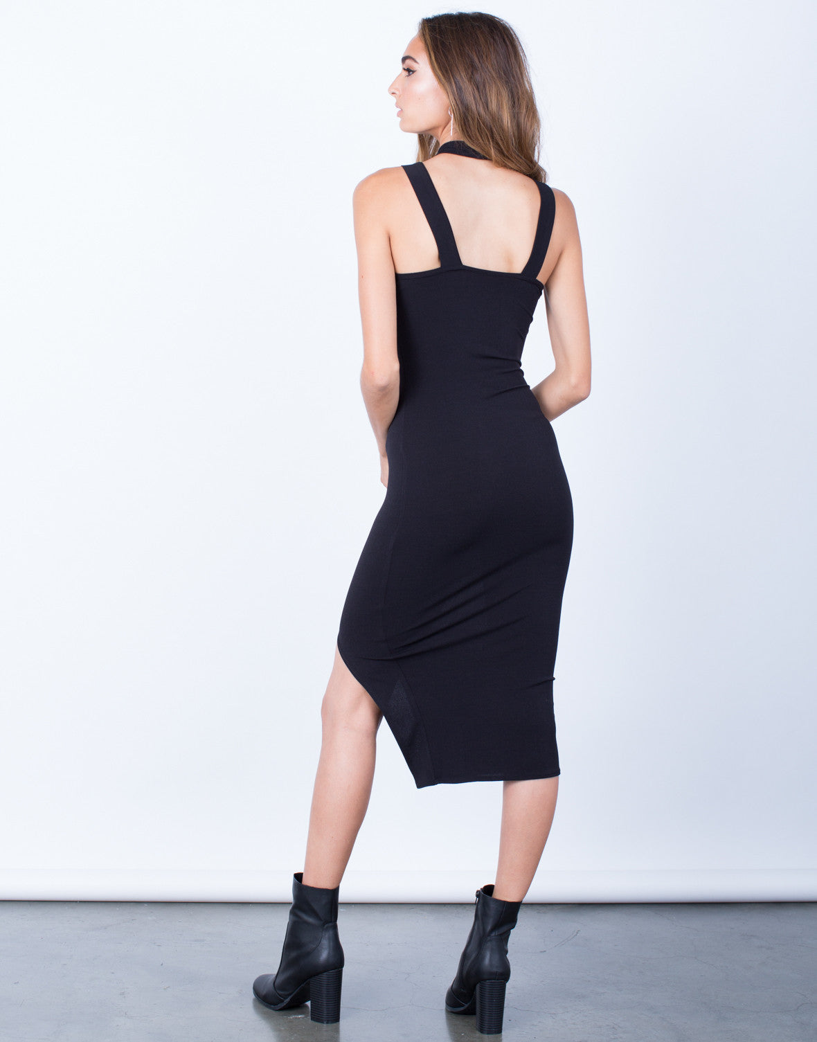 Back View of All Night Long Bodycon Dress