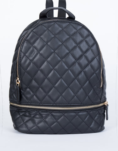 Black All Quilted in Backpack