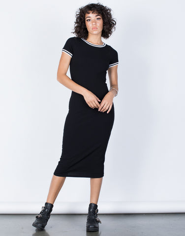 Black All-Star Sporty Dress - Front View