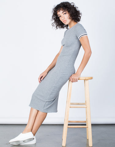 Gray All-Star Sporty Dress - Side View