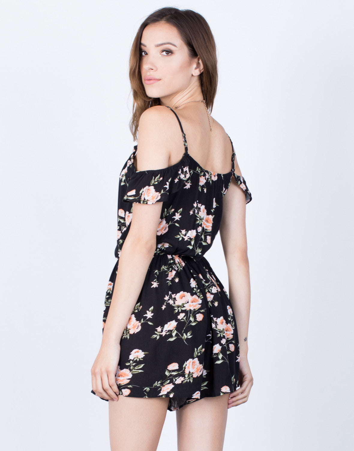 Back View of All Summer Night Romper
