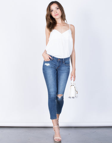 Front View of All You Need Jeans