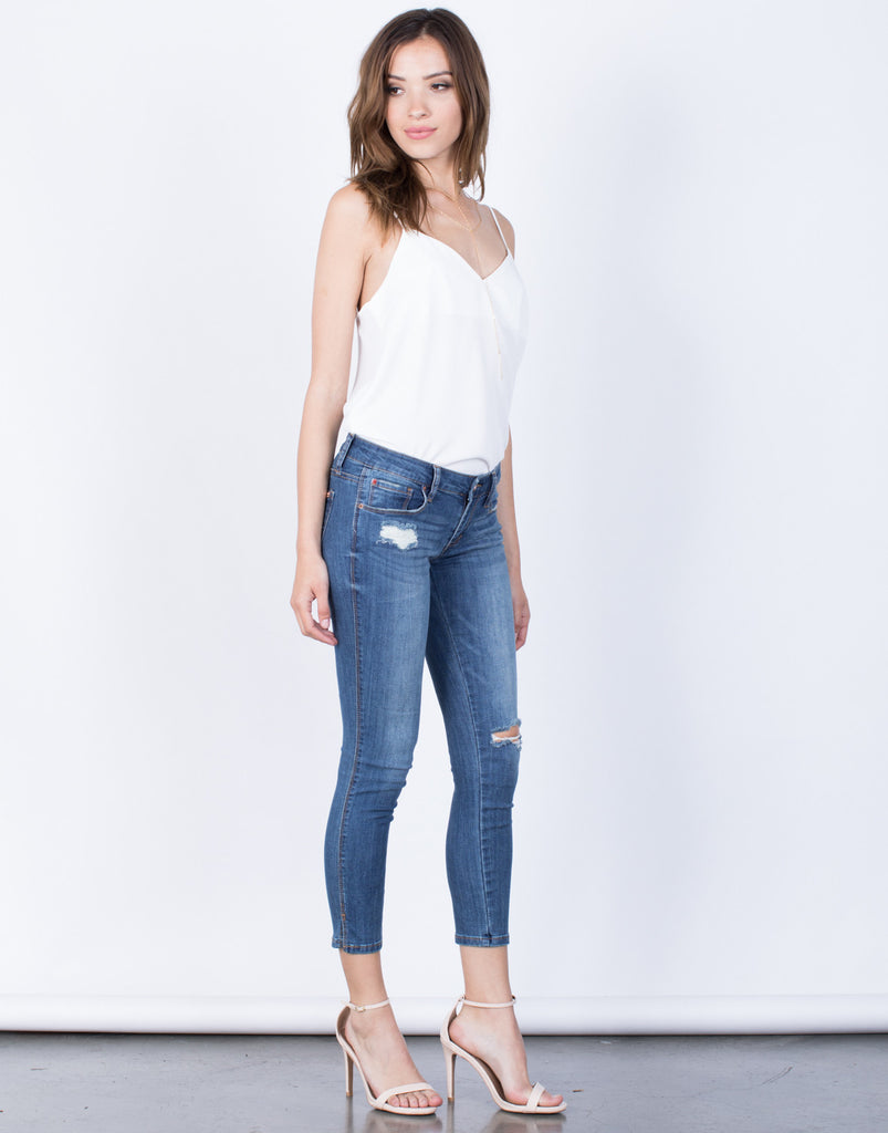 Side View of All You Need Jeans