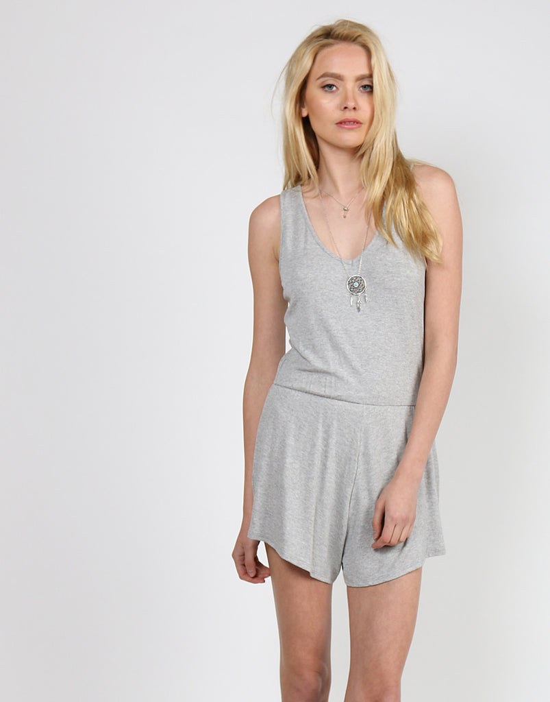 All Day Comfort Romper Rompers + Jumpsuits Gray S -2020AVE