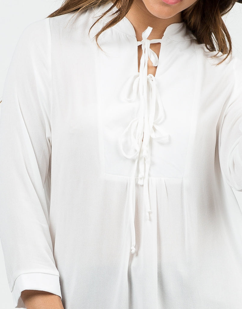 Detail of All Tied Up Blouse