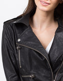 Detail of All Zipped Up Moto Jacket
