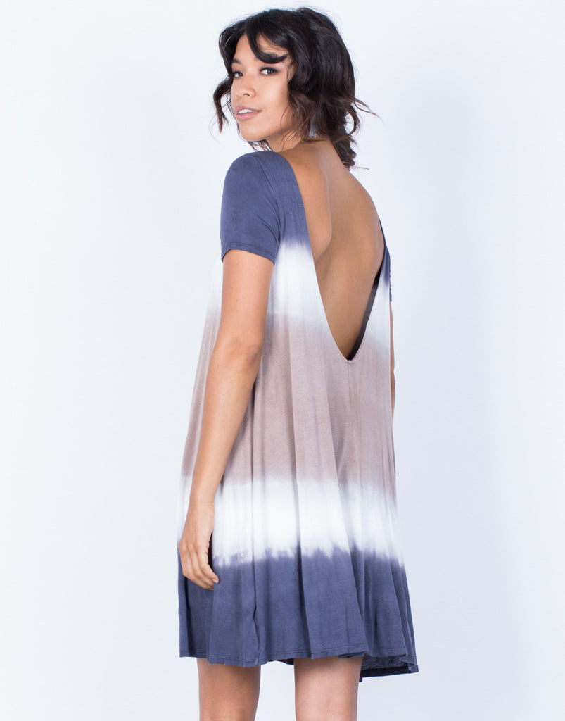 Back View of Amber Tie-Dye Dress