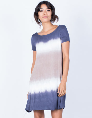 Front View of Amber Tie-Dye Dress