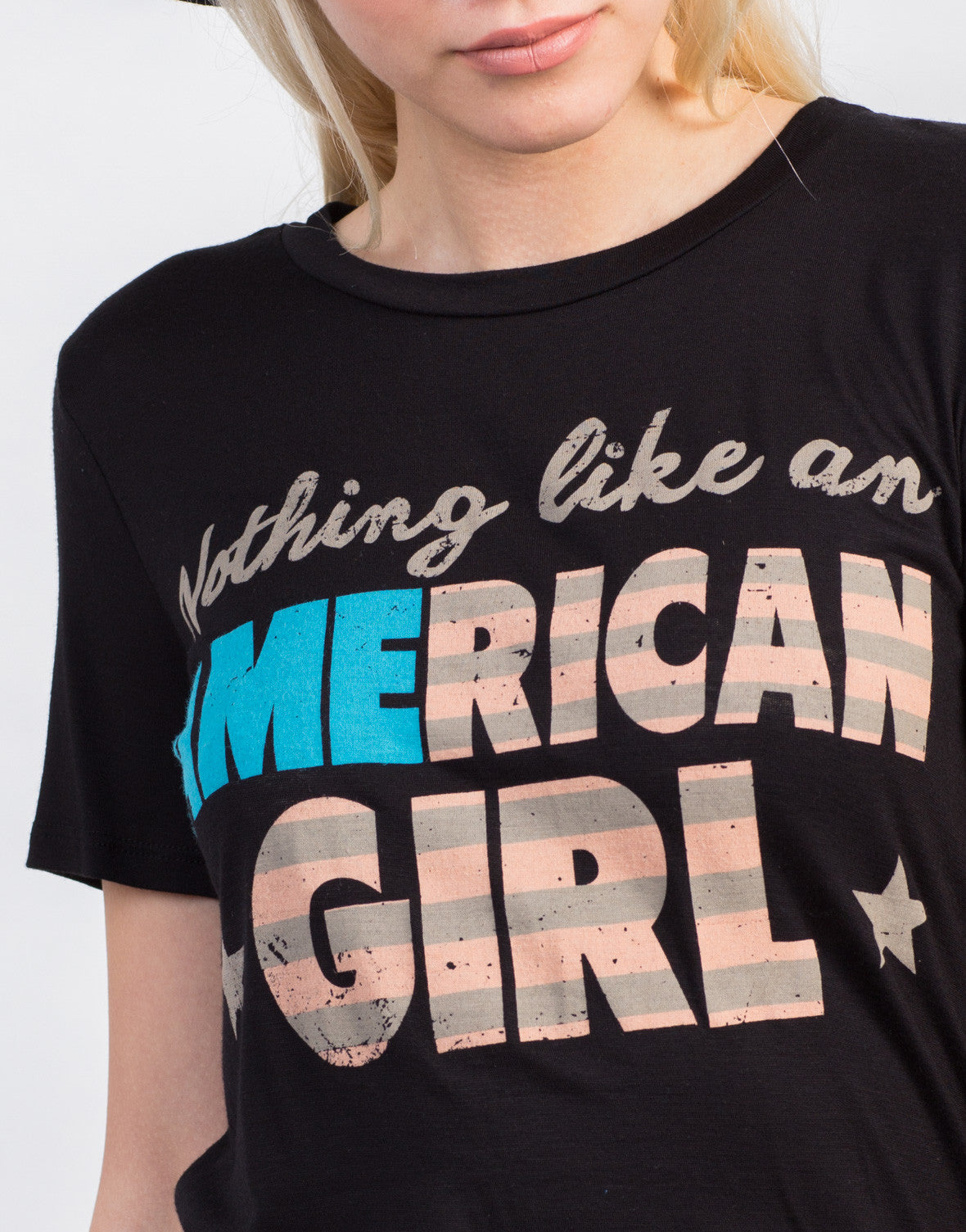 Detail of American Girl Graphic Tee