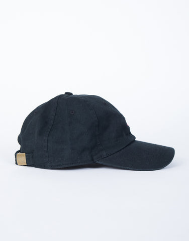 Black American Spirit Cap - Side View
