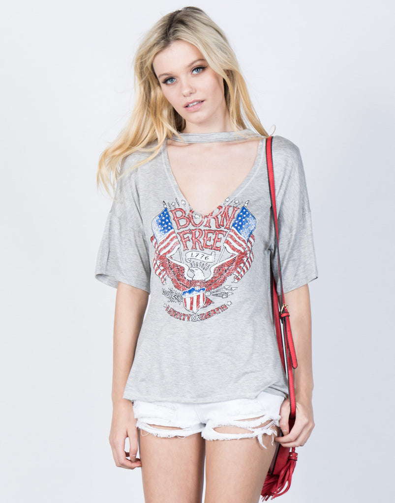 Front View of American Spirit Graphic Tee
