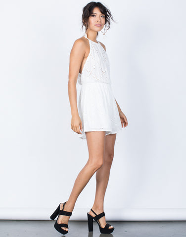 Amy Embroidered Romper
