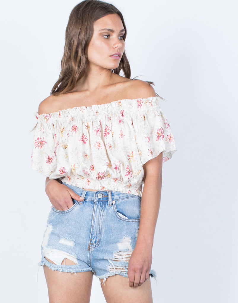 Front View of Amy Floral Top