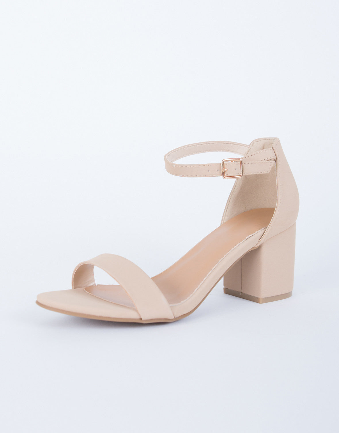 Ankle Strapped Block Heel Sandals