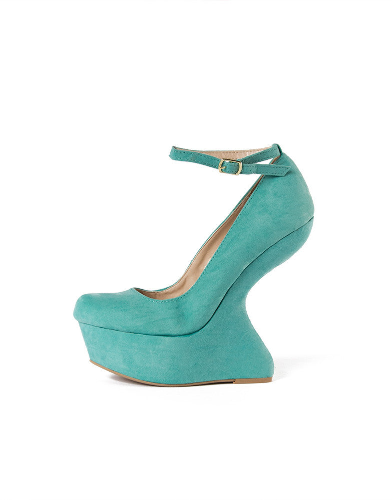 Ankle Strap Wave Wedge (+ Colors)