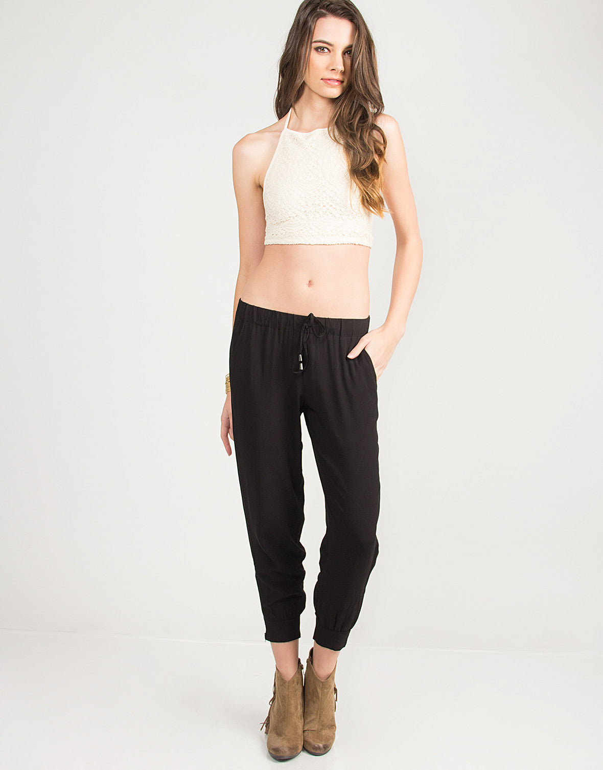 Ankle Zip Jogger Pants - Large