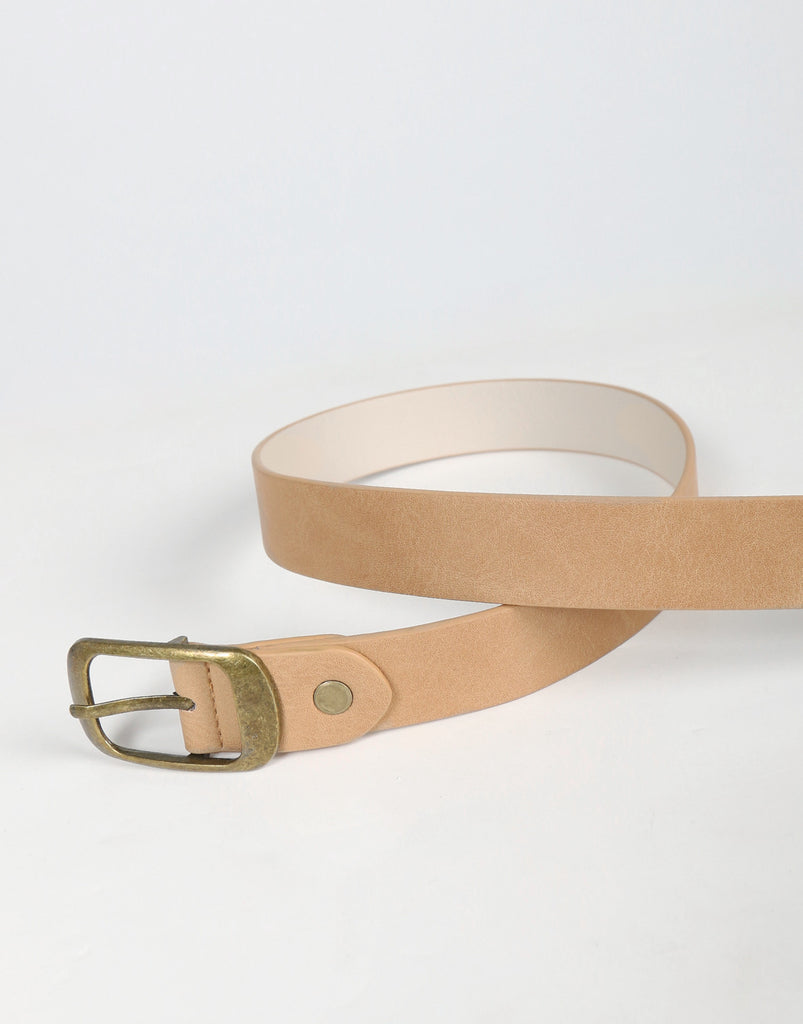 Antique Classic Belt - Tan