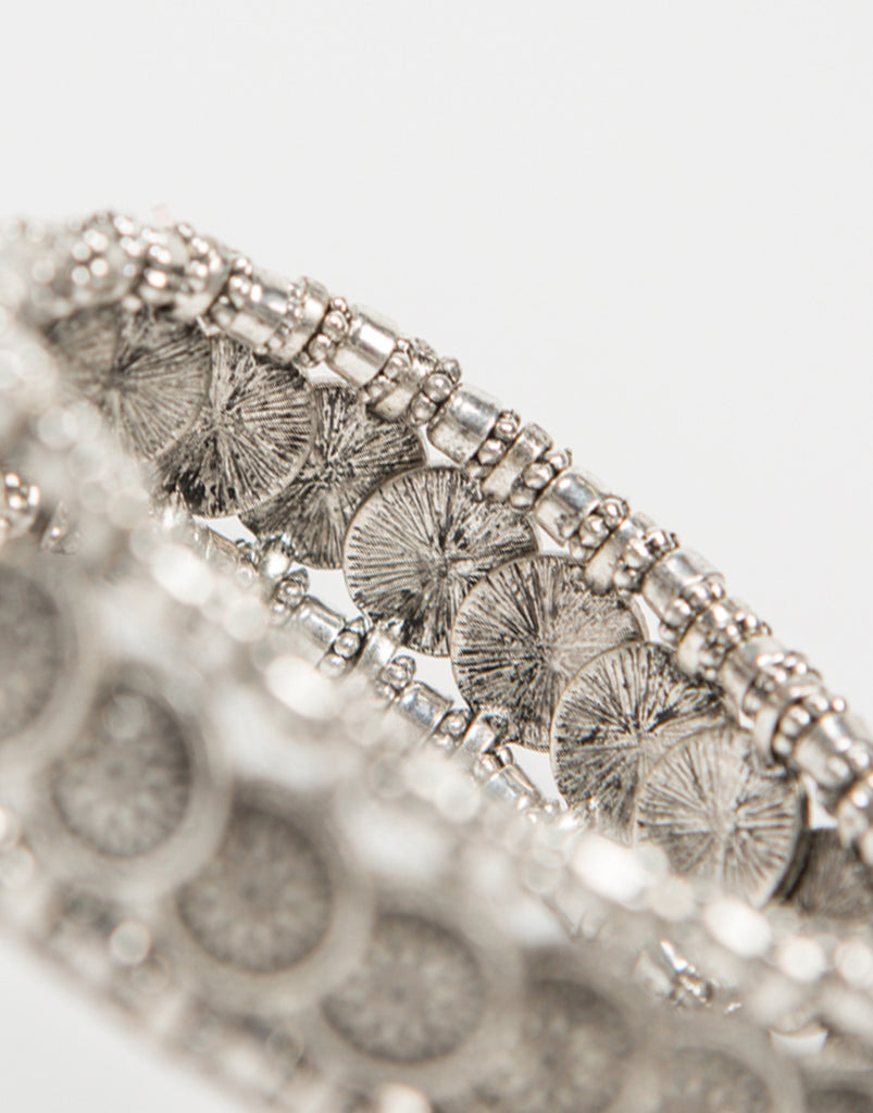 Detail of Antique Coined Bracelet