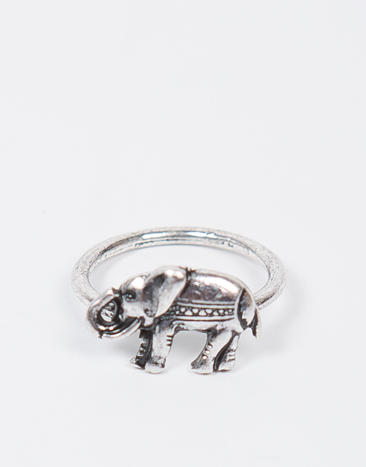 Front View of Antique Elephant Ring
