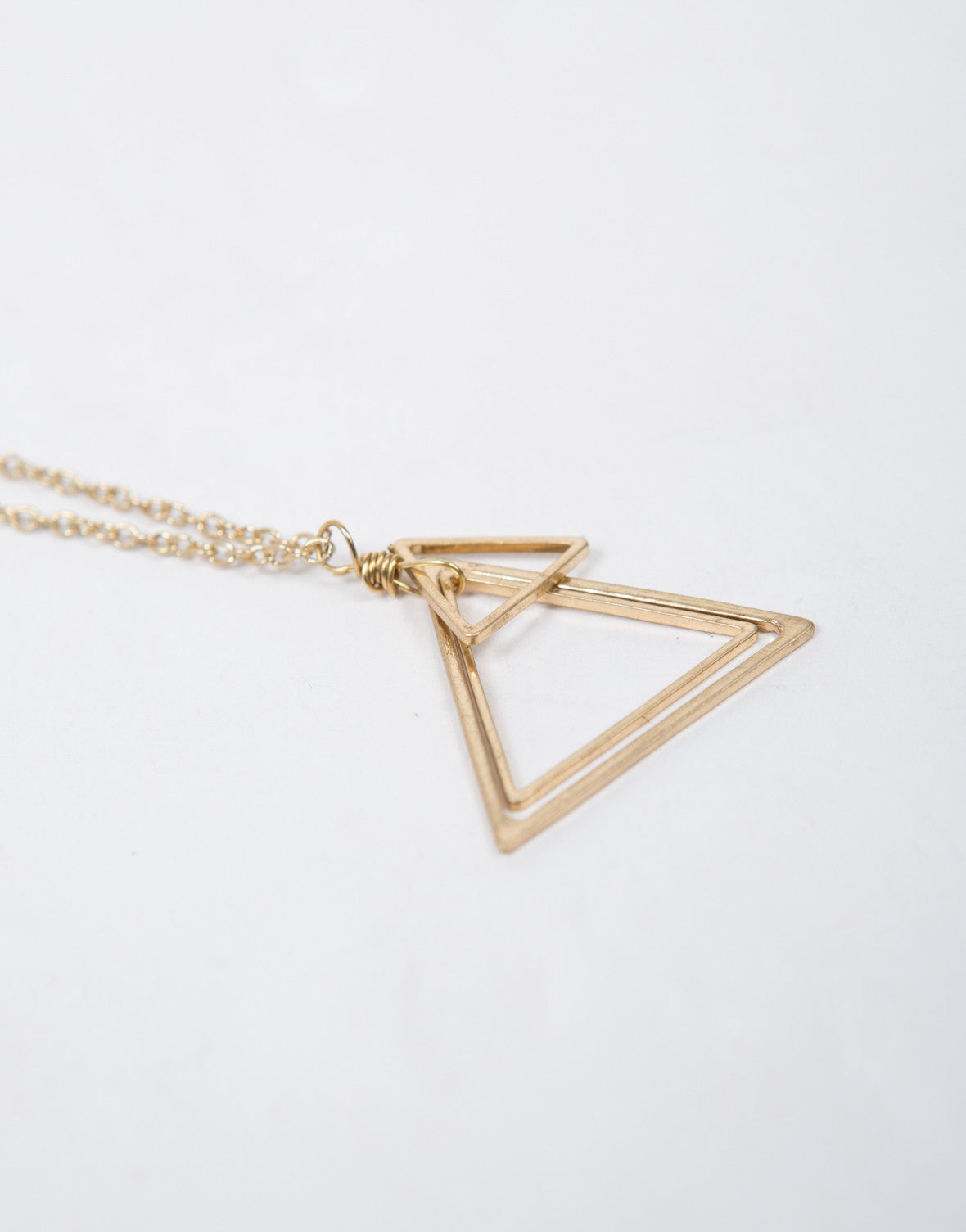 Antique Triangle Necklace