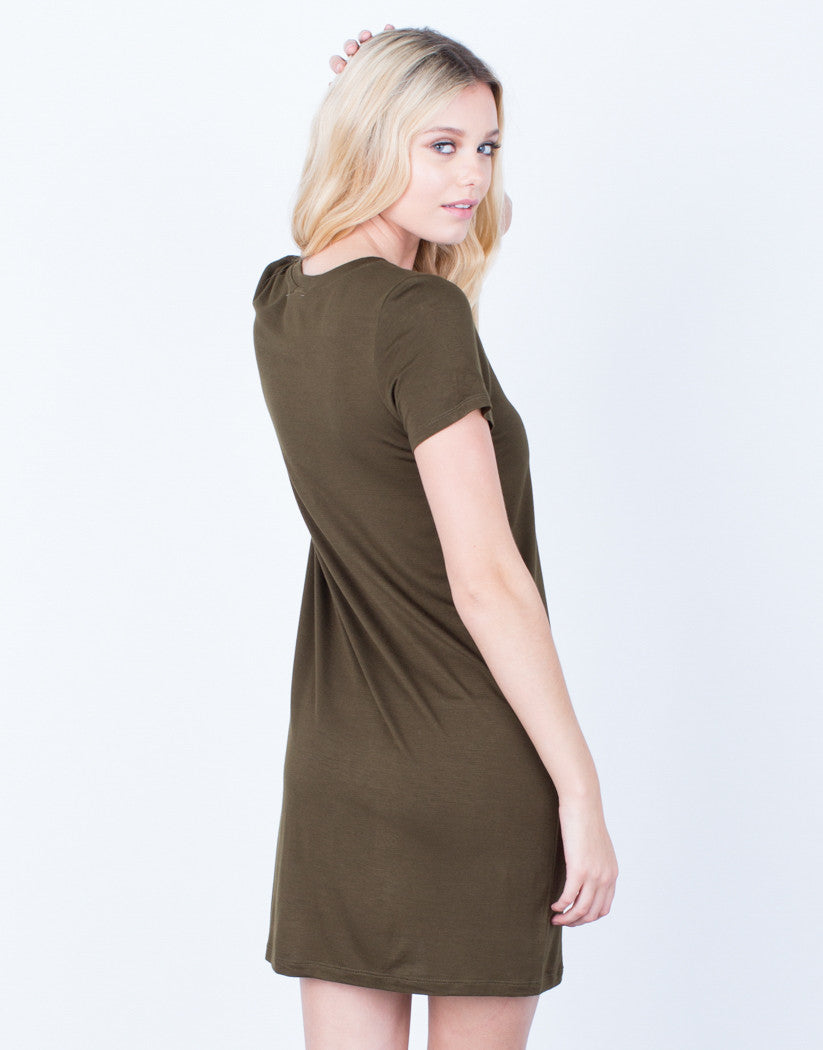 Back View of Anything But Basic Tee Dress