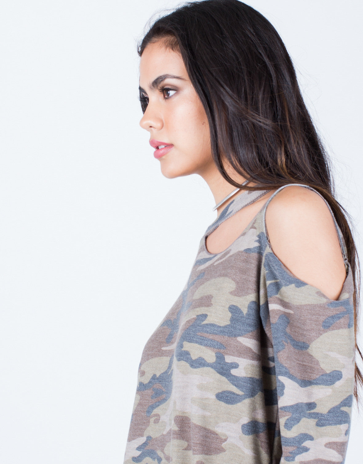 Remarkable Army Cut Out Top Camo Print Top Destroyed Top Olive Green Short Hairstyles For Black Women Fulllsitofus