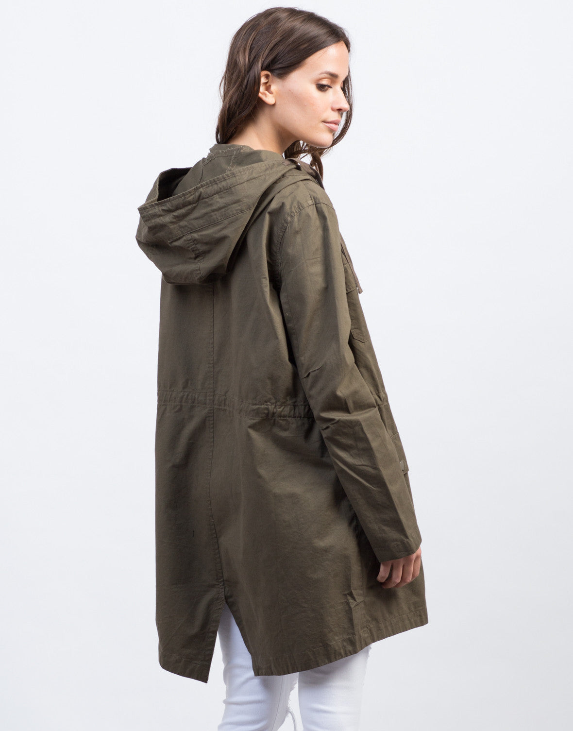 Back View of Army Anorak