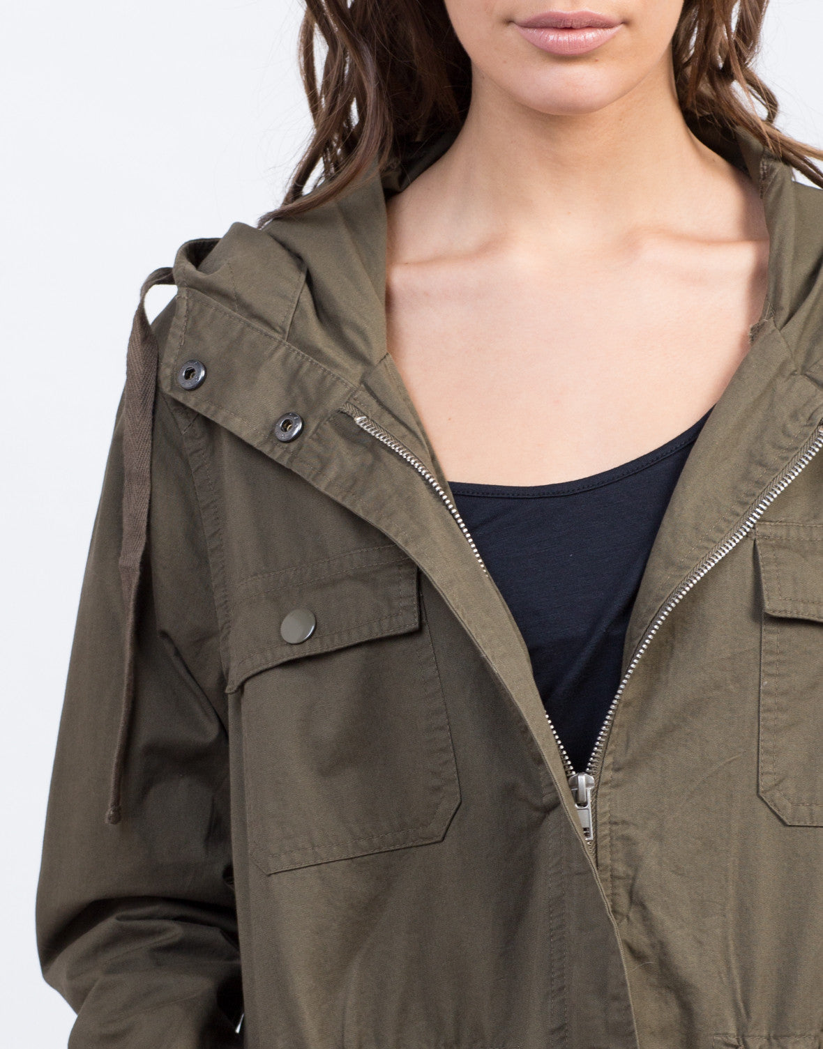 Detail of Army Anorak
