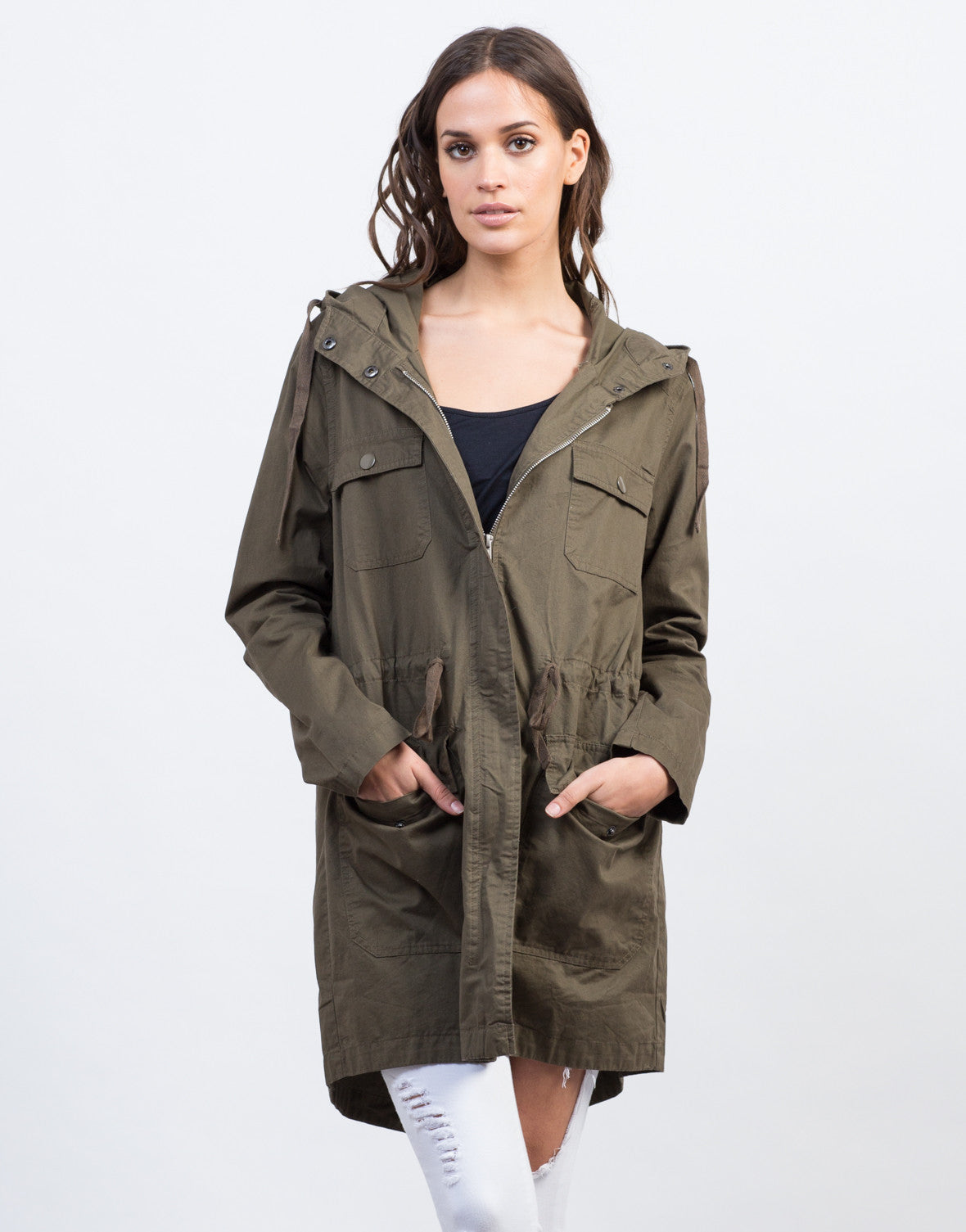 Front View of Army Anorak