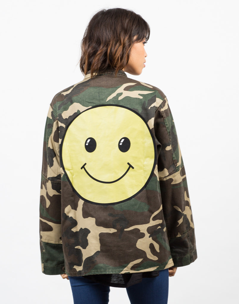 Front View of Army Printed Graphic Jacket