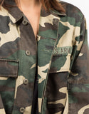 Detail of Army Printed Graphic Jacket