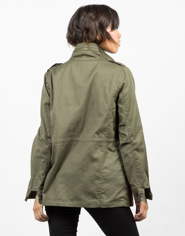 Back View of Army Shirt Jacket