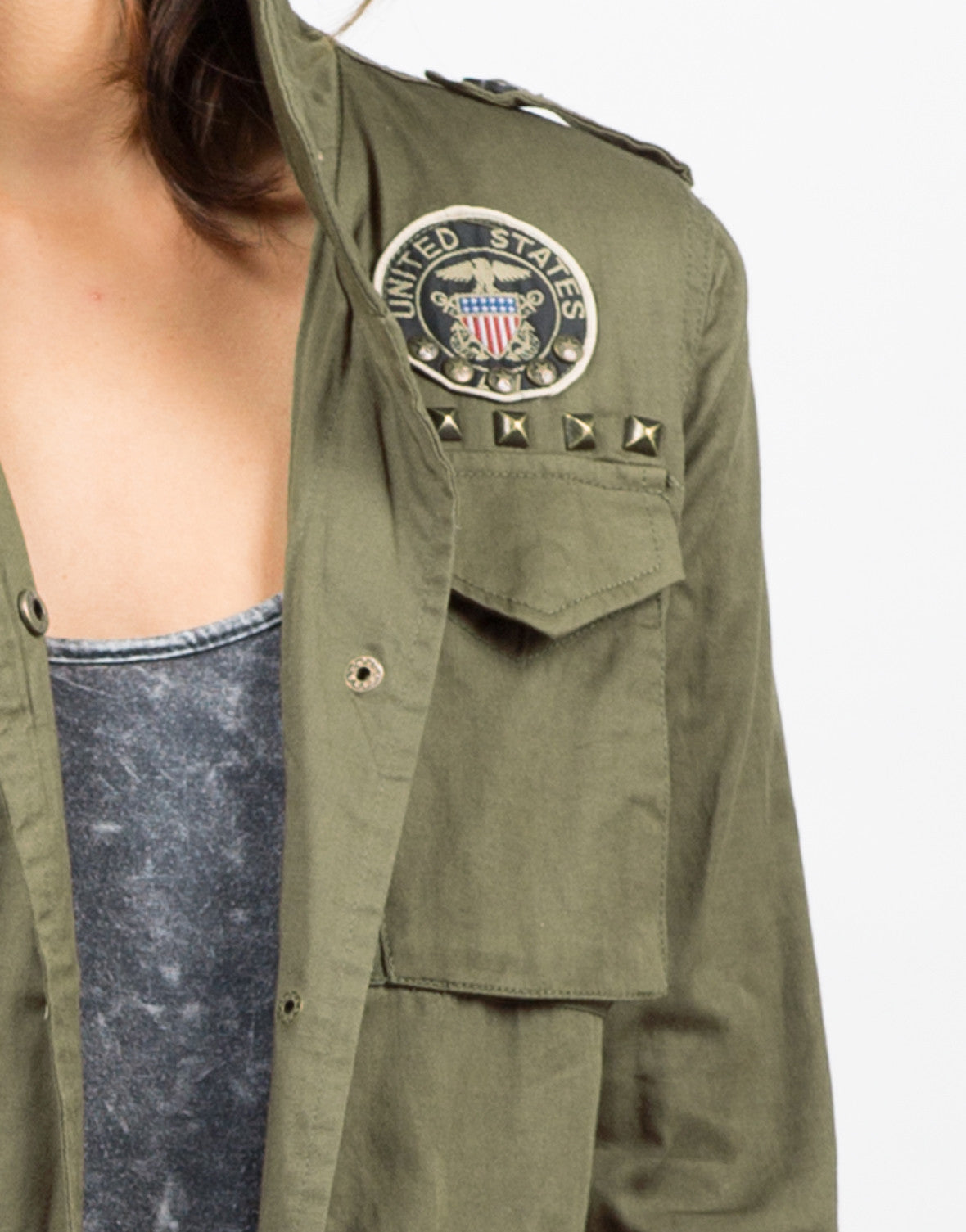 Detail of Army Shirt Jacket